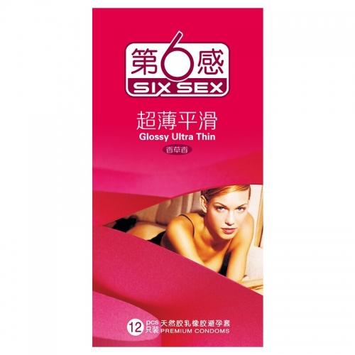 第6感  超薄平滑避孕套 中号 12只装