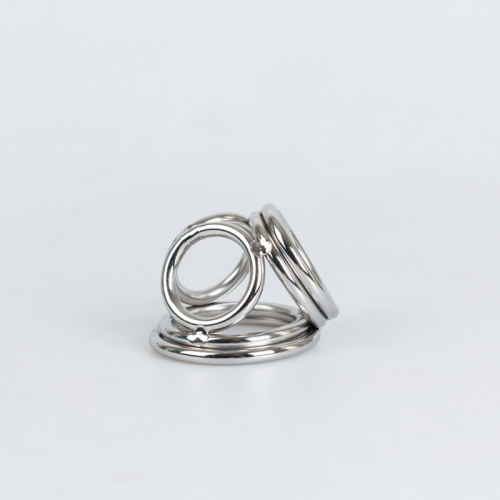 菲菲皮革 男用不銹鋼4環延時陽具環