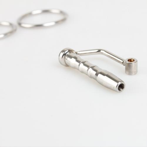 菲菲皮革 短款不锈钢金属尿管