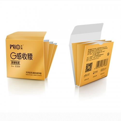 【每人限购5盒,多购无效】米奥 G感收腰紧绷贴身避孕套 中号 3只装
