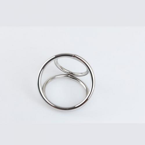 菲菲皮革 男用不锈钢延时锁精环
