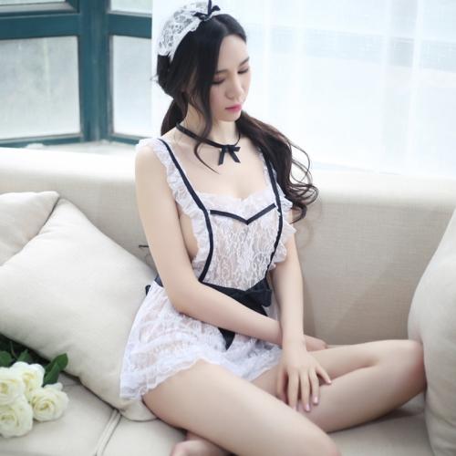 瑰若 极度诱惑套装可爱女佣女仆装制服围裙睡衣